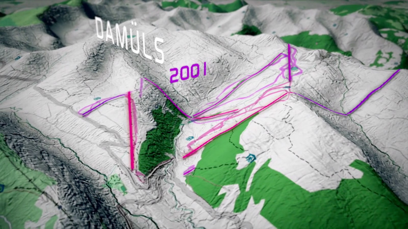 Visualization of the development of skiing resorts